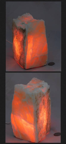 Orange Honeycomb Calcite Lamp - Moroccan Village