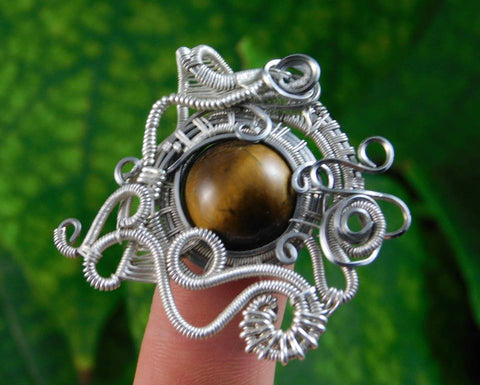 Tiger's Eye Pendant  (0.925 Sterling Silver) - Moroccan Village