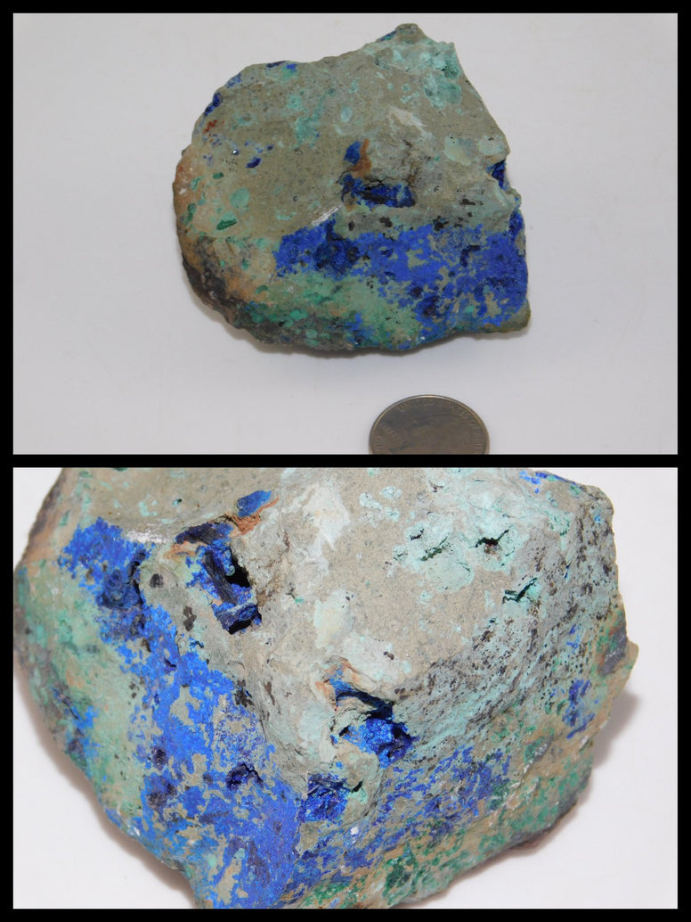 Azurite Cystal in Matrix - Moroccan Village