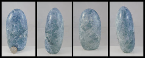 Blue Calcite Mantle Piece - Moroccan Village