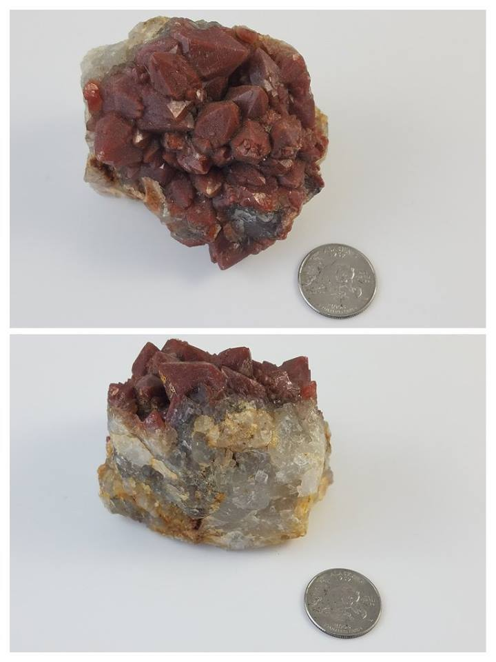Red Quartz Cluster - Moroccan Village