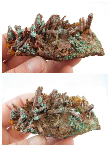 Iron Coated Quartz with Malachite - Moroccan Village