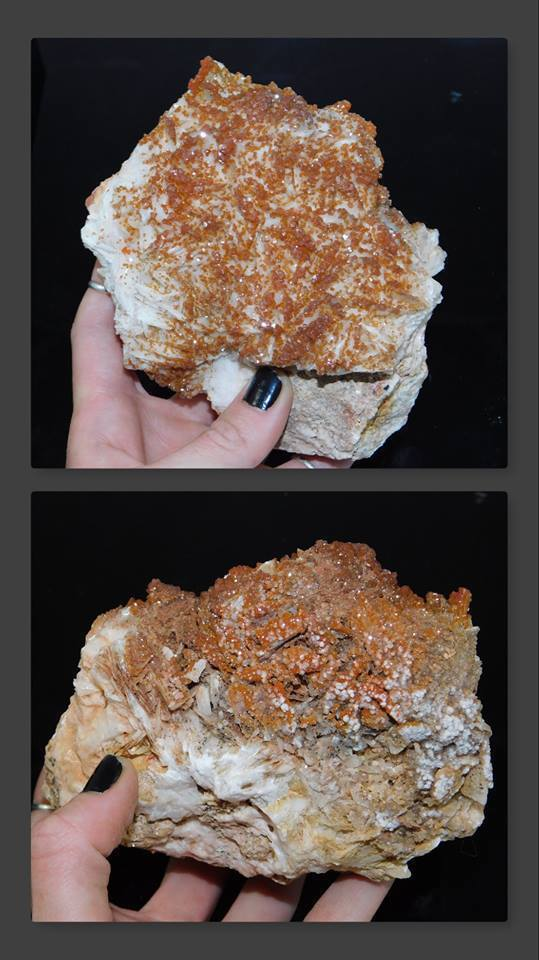 Vanadinite on Barite - Moroccan Village