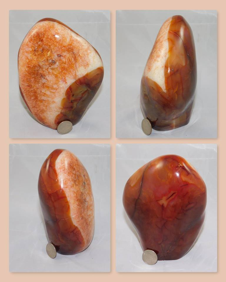 Carnelian Agate Mantle Piece - Moroccan Village