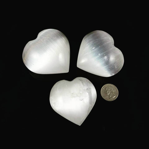 3 Selenite Puffy Hearts - Moroccan Village
