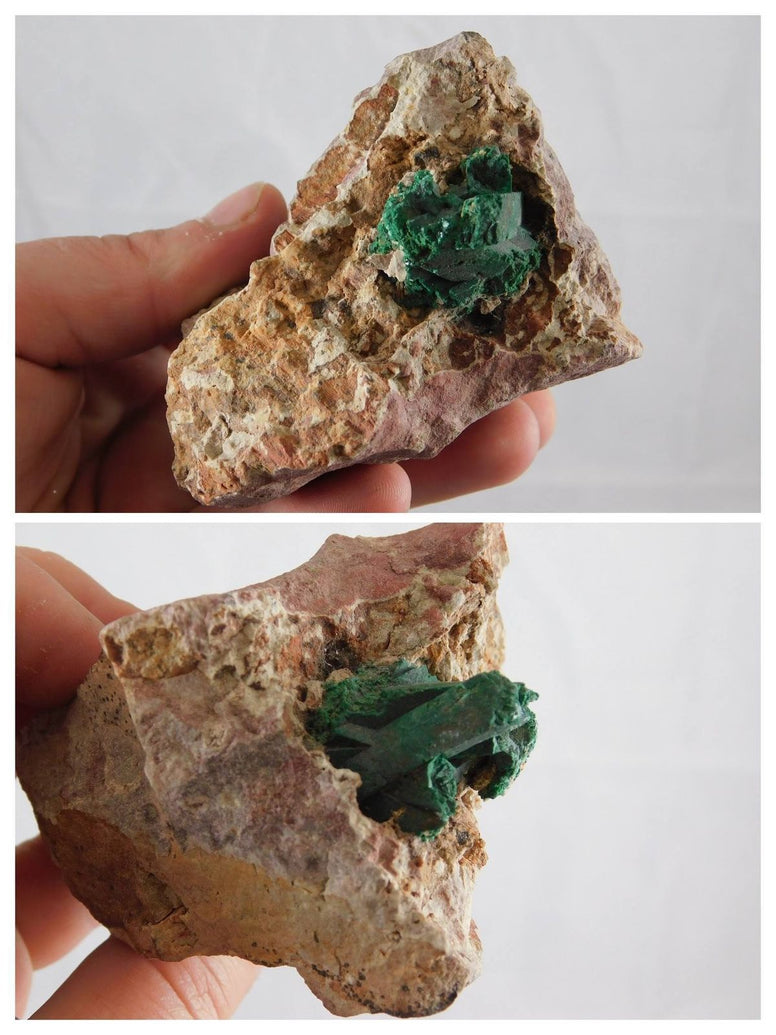 Malachite Crystal in Matrix - Moroccan Village
