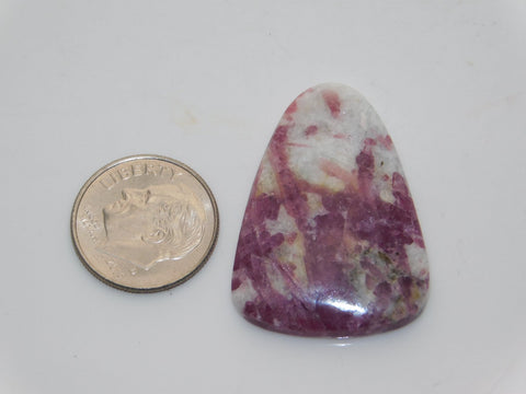 Pink Tourmaline in Quartz Cabochon - Moroccan Village
