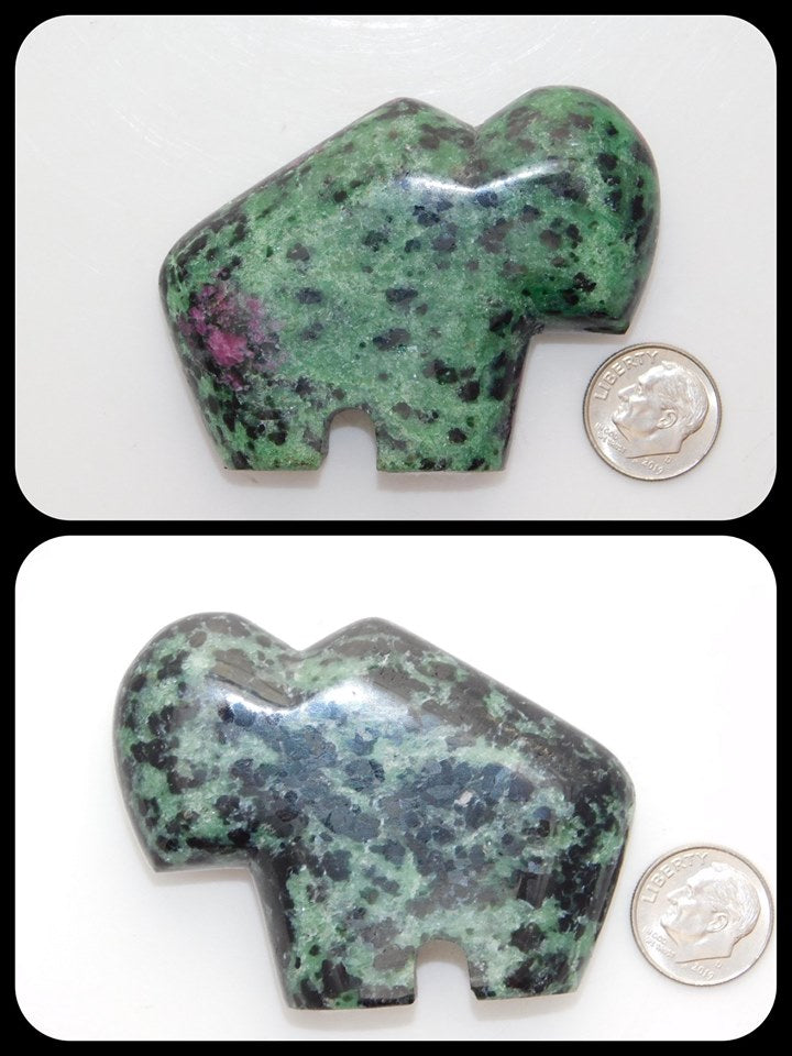 Ruby in Zoisite Buffalo