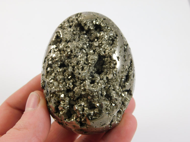 Hand Polished Pyrite Egg - Moroccan Village