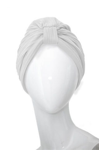 BLANCHE Pleated Mousseline Turban