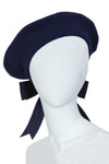 béret navy dark blue béret bow at the back french brothers and sistres