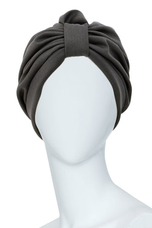 TOLBIAC Grey Turban for women