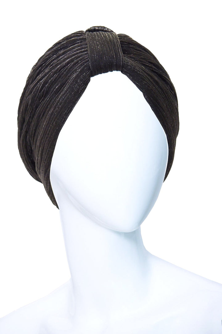 EBENE Black Turban made of Cotton