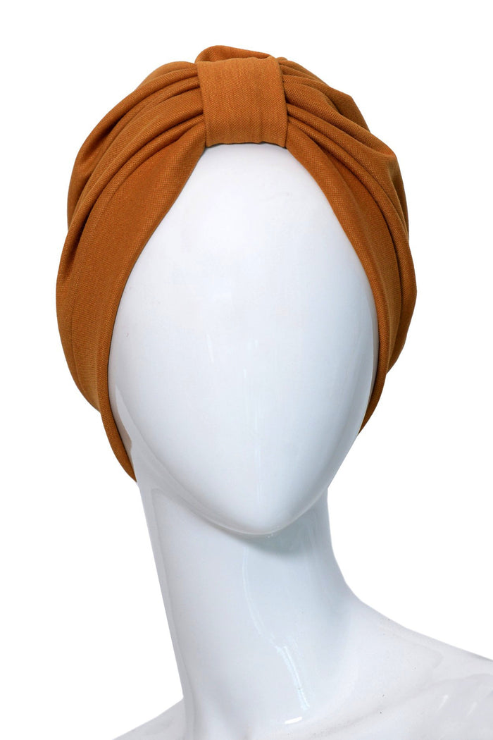 LIEGE Ochre turban for women