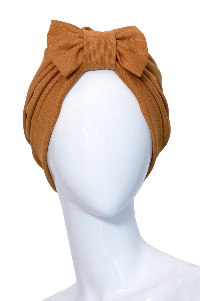 LES SABLONS Ochre turban for women