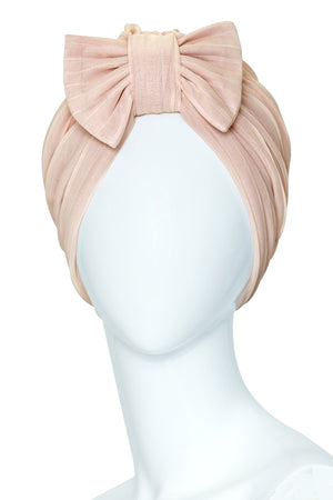COURONNES Blush Turban in Mousseline