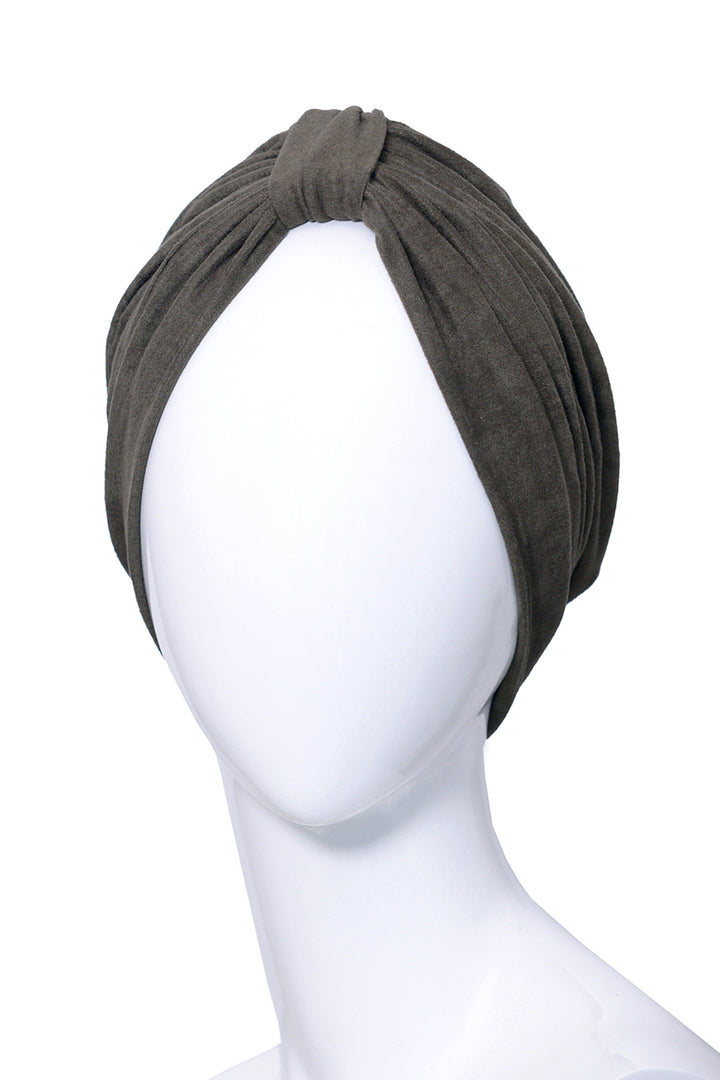 PERNETY Green Kaki turban for women
