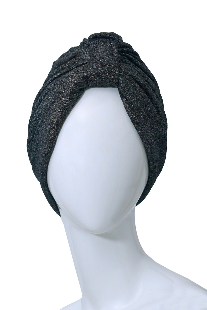 PAILLETTES Dark Glittery Turban for women