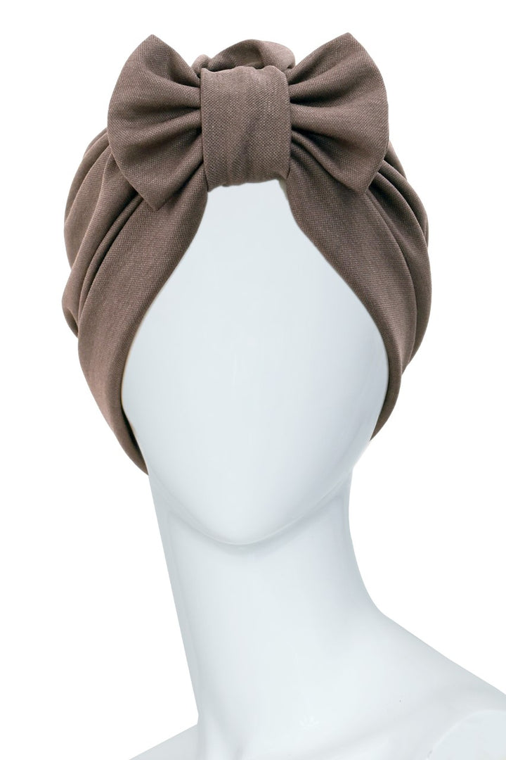 GARE DE LYON Brown Turban with bow