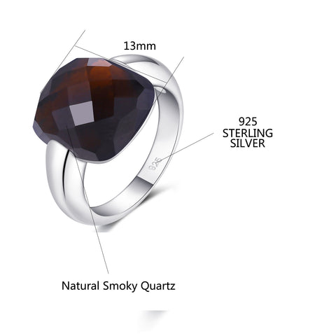 Natural Smoky Quartz Sterling Silver Ring