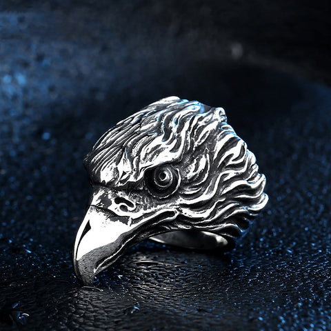 Eagle Head Sterling Silver Ring