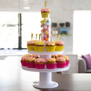 how to make a tiered cupcake cake