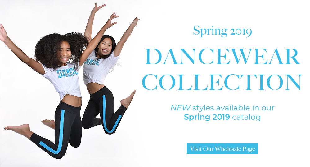 New Basic Moves wholesale Spring 2019 dancewear collection available. Great dance fashion styles including ballet, gymnastics and hip-hop fashion.