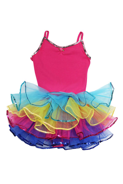 Girls' Be a Clown Costume Leotard Dress