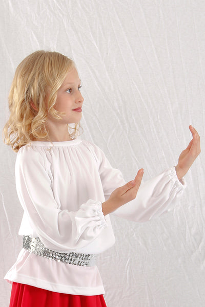 Girls' Liturgical Long Sleeve Crewneck Tunic Top