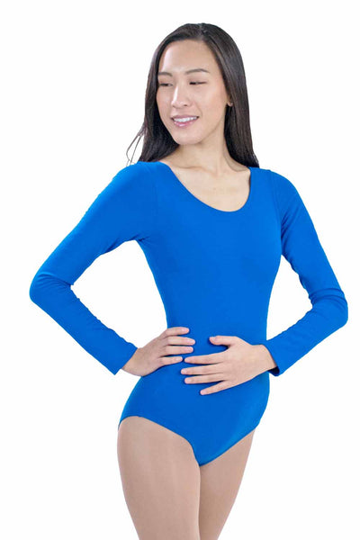 Adult and Plus Size Long Sleeve Leotard