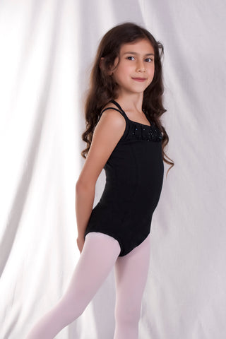 Girls' X-Back Princess Seam Leotard