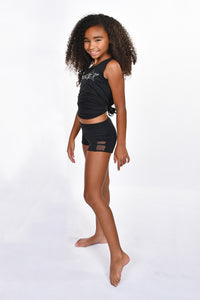 "Girls' Mesh Side 1"" Inseam Hot Short"