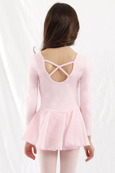 Girls Long Sleeve X-Dress Dress