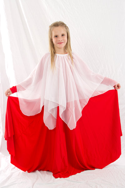 Girls' Chiffon Overlay Skirt