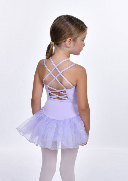 Girls' Double Strap Back Cami Dress Leotard