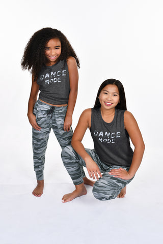 Kids' Camo Drawstring Terry Cuffed Pant