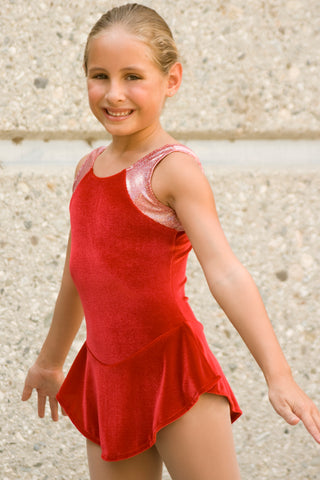 Girls' Velour Foil Dots Tank Skate Dress