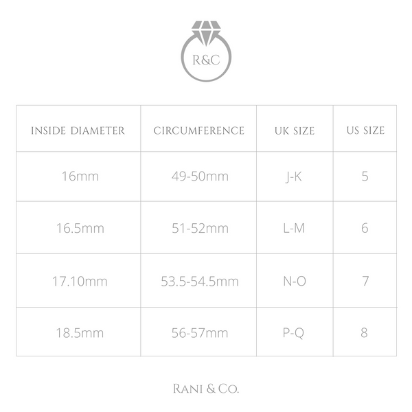 Ring size guide-Rani & Co.