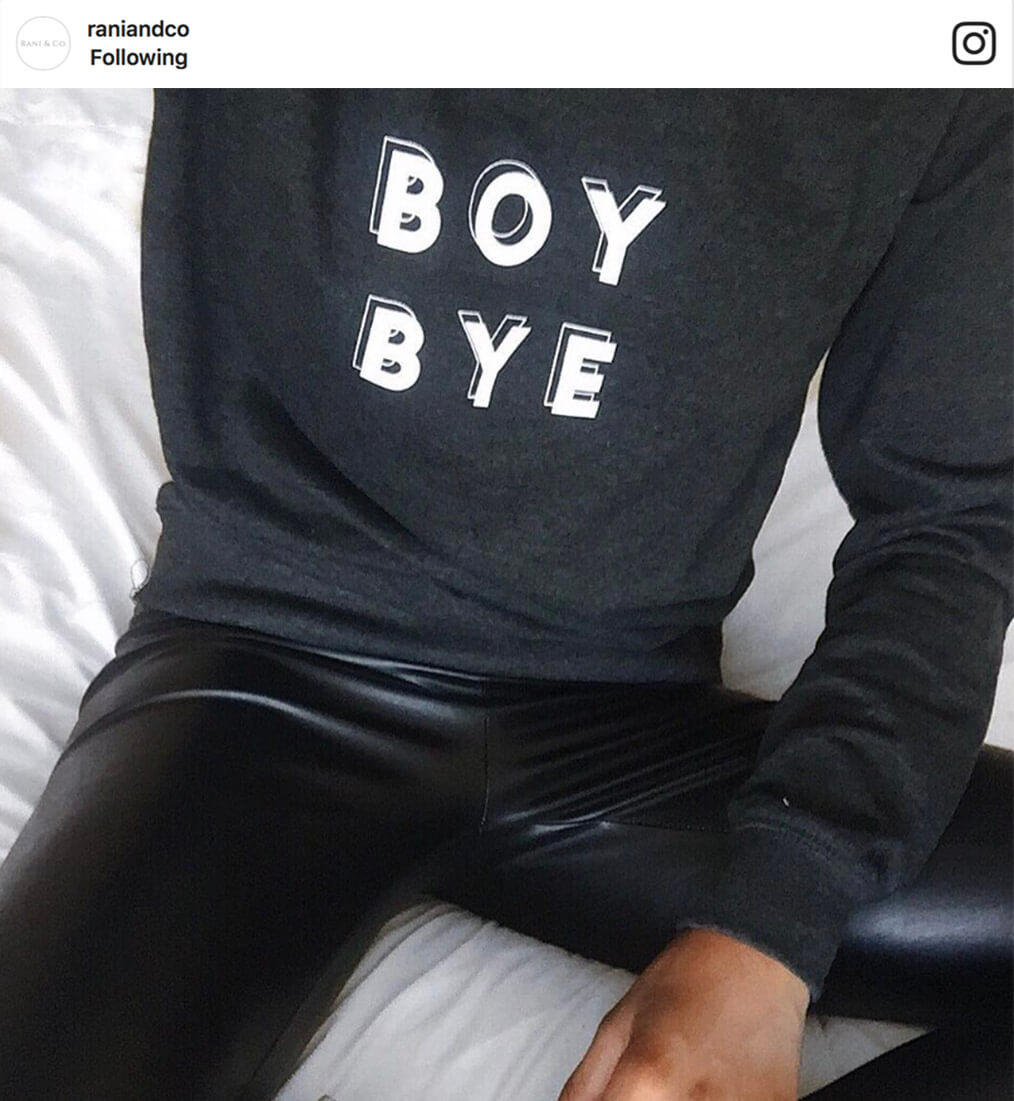 Boy Bye feminist slogan jumper from Rani & Co. Journal Magazin feature
