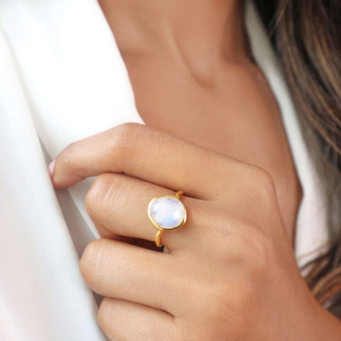 Irregular Moonstone Ring