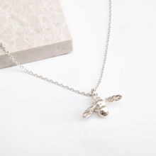 Silver Bumble Bee Necklace - Rani & Co.