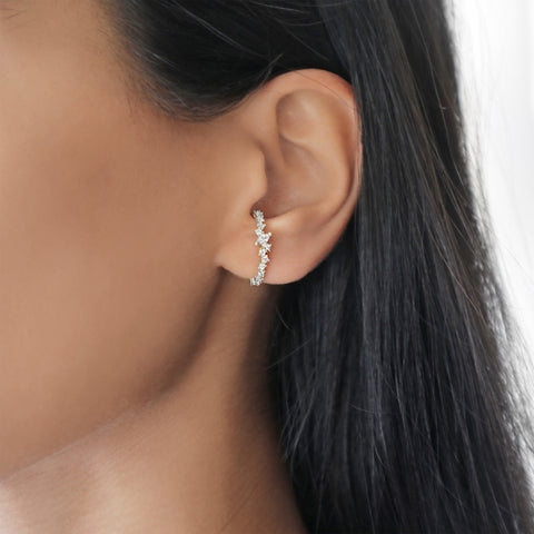 Sparkle Ear Cuff Earring (Silver)