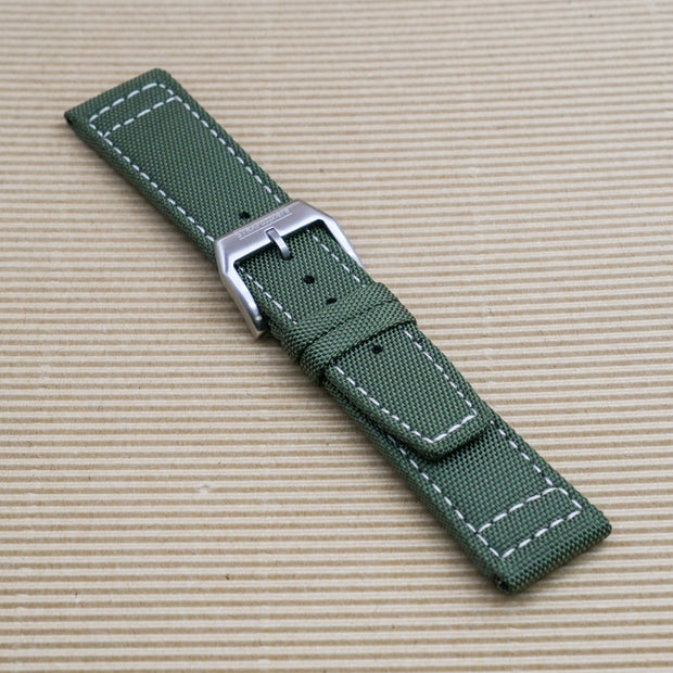 StrapoSAIL Pine Green with Cream Stitching