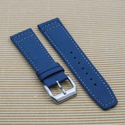 Ocean Blue with Grey Stitching StrapoSAIL Canvas 20/22mm