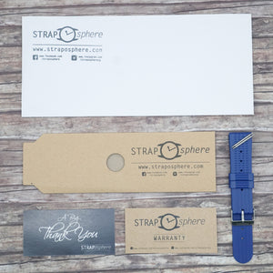 Marine Blue StrapoWAFFLE Rubber 22mm