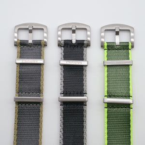 Black with Grey Edge StrapoBELT Nato 20/22mm