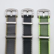 StrapoBELT Nato Olive Green with Neon Yellow Edge