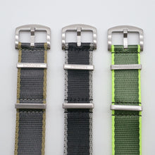 Coal Grey with Khaki Edge StrapoBELT Nato 20/22mm