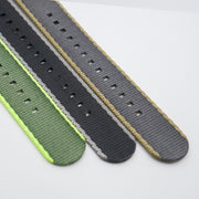 StrapoBELT Nato Coal Grey with Khaki Edge