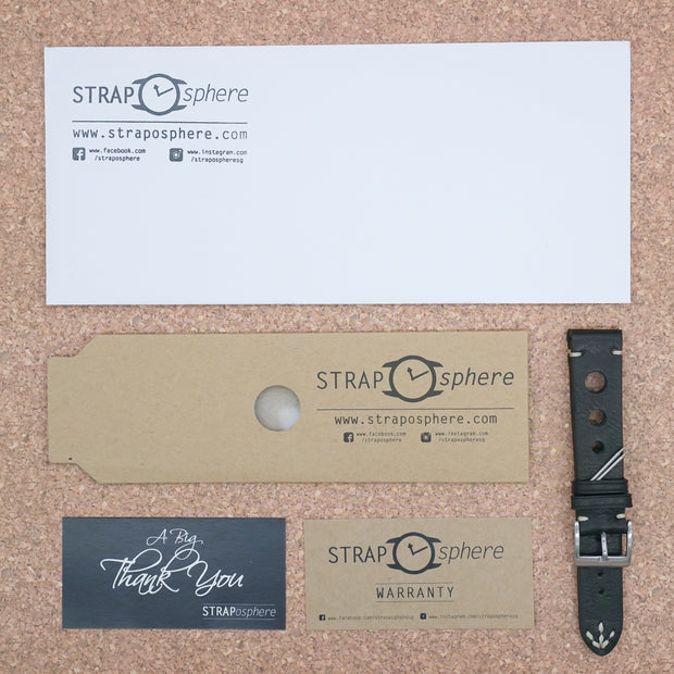 StrapoLEATHER RALLY 2.0 Soot Black